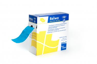 Relwo blauw, hypoallergene en elastische metaaldetectiepleister op rol